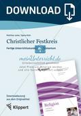 Fertige Unterrichtsstunde zum Christentum: Christlicher Festkreis Preview 1