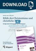 Fertige Unterrichtsstunden zum Christentum: Ethik des Christentums und christliche Praxis Preview 1