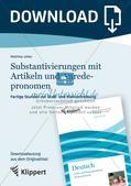 Fertige Stunden zu Groß- und Kleinschreibung: Substantivierungen mit Artikeln und Anredepronomen Preview 1