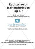 Rechtschreibtraining: Groß- und Klein-, Getrennt- und Zusammenschreibung Preview 2