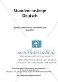 Kreative Stundeneinstiege: Untersuchung, Verwendung und Gestaltung von Sprache Preview 2