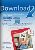 Bewegtes Lernen: Untersuchung von Sprache und Sprachgebrauch Preview 1