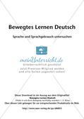 Bewegtes Lernen: Untersuchung von Sprache und Sprachgebrauch Preview 2