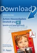 Bewegte Hausaufgaben: Sprache und Sprachgebrauch Preview 1