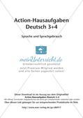 Bewegte Hausaufgaben: Sprache und Sprachgebrauch Preview 2