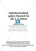 Selbstkontrollaufgaben: Rechtschreibung Preview 2