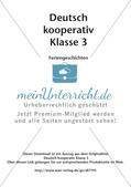 Kooperative Lernmethoden: Feriengeschichten Preview 2
