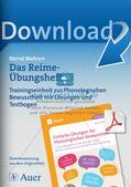 Training der Phonologischen Bewusstheit: Reime Preview 1
