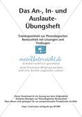 Training der Phonologischen Bewusstheit: An-, In- und Auslaute Preview 2