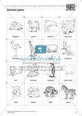 Lernwerkstatt Zoo: Englische Tiernamen Preview 8
