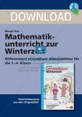Sachaufgaben, Achsenspiegelung und Statistik zum Thema Winter Preview 1