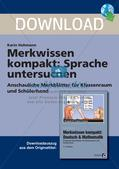 Merkwissen kompakt: Untersuchung von Sprache Preview 1