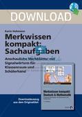 Merkwissen kompakt: Sachaufgaben Preview 1