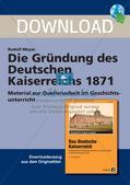 Die Gründung des Deutschen Kaiserreichs 1871 Preview 1
