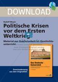 Politische Krisen vor dem Ersten Weltkrieg Preview 1