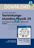 Rätsel und Sudoku zu physikalischen Grundlagen Preview 1