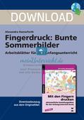 Fingerdruck: Bunte Sommerbilder Preview 1