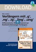 Rechtschreibstrategie: Verlängern mit g, ng und ig Preview 1