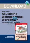 Leseerwerb: Akustische Wahrnehmung - Wortlängen Preview 1