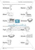 Leseerwerb: Akustische Wahrnehmung - Ähnliche Wörter Preview 4