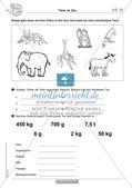 Sachaufgaben rund um Tiere Preview 8