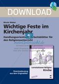 Evangelische Religion: Feste im Kirchenjahr Preview 1