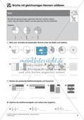 Bruchrechnung: Addition und Subtraktion Preview 10