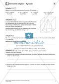 Oberfläche und Volumen: Pyramide, Kegel, Kugel Preview 9