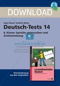 Lernzielkontrollen Klasse 8: Sprache untersuchen und Zeichensetzung Preview 1