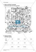 Wortschatzarbeit: Kleider, Farben und Schule Preview 7
