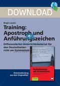 Rechtschreibtraining: Apostroph und Anführungszeichen Preview 1