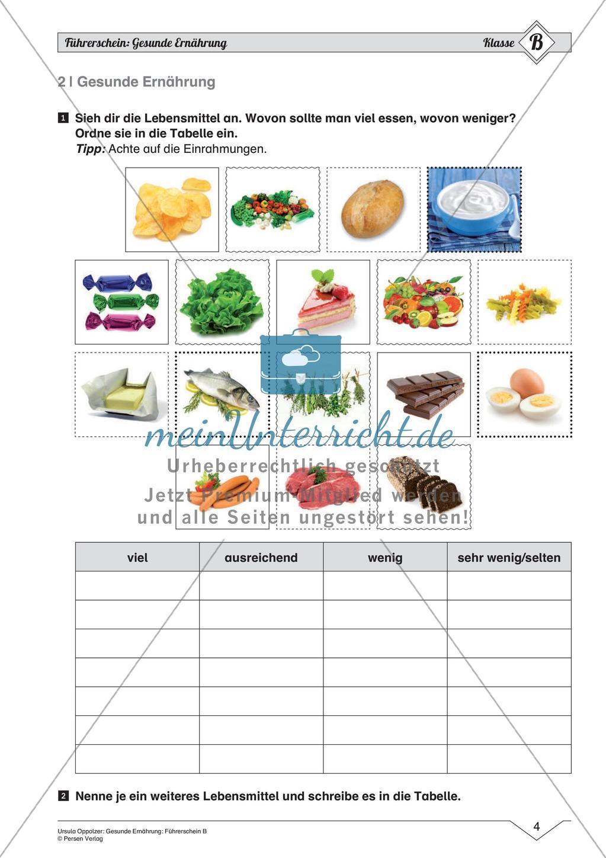 Gesunde Ernährung Mittleres Niveau   meinUnterricht