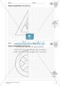 Geometrisches Zeichnen: Symmetrie Preview 6