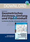 Geometrisches Zeichnen: Umfang und Flächeninhalt Preview 1