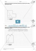 Geometrisches Zeichnen: Umfang und Flächeninhalt Preview 5