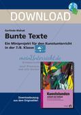 Künstlerische Miniprojekte: Bunte Texte Preview 1