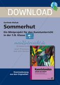 Künstlerische Miniprojekte: Sommerhut Preview 1