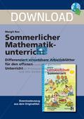 Sommerlicher Mathematikunterricht Preview 1