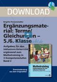 Ergänzungsmaterial: Terme und Gleichungen Preview 1