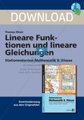Lineare Funktionen und lineare Gleichungen Preview 1