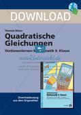 Quadratische Gleichungen Preview 1