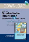 Mathematik_neu, Sekundarstufe I, Funktionen, Quadratische Funktionen, Wurzelfunktion, Funktionsgleichung, Wertetabelle, Scheitelpunkt, Symmetrie Parabel, Parameter Parabel