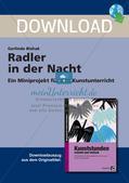 Künstlerische Miniprojekte: Radler in der Nacht Preview 1