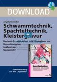 Kunsttechniken: Schwamm- und Spachteltechnik Preview 1