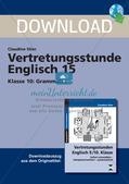 Grammatikphänomene: Tenses, Reported speech, Sentences Preview 1