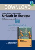 Inklusionsmaterial: Urlaub in Europa Preview 1