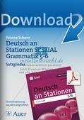 Stationenarbeit Grammatik: Satzglieder Preview 1
