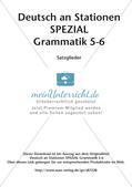 Stationenarbeit Grammatik: Satzglieder Preview 2