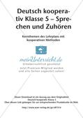 Kooperative Methoden - Sprechen und Zuhören Preview 2