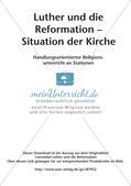 Luther und die Reformation: Situation der Kirche Preview 2